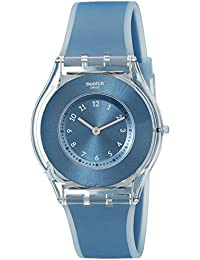 Swatch Unisex-Uhr Digital Quarz mit Silikonarmband – SFS103