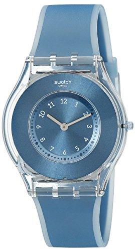 Swatch Unisex-Uhr Digital Quarz mit Silikonarmband - SFS103