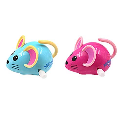 Toyvian Maus zum Aufziehen, Cartoon-Uhrwerk, Ratte, Badespielzeug, Partygeschenk, Geburtstagsgeschenk für Kinder, gemischte Farben, 2 Stück
