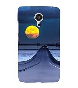 ifasho Designer Back Case Cover for Meizu MX5 (Road Scenary Moon London Uk Indore)