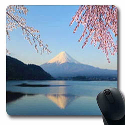 Mount Snow (Luancrop Mousepads Snow Mount Fuji Kirsche Fujisan Blossom View See Natur Kawaguchi Oblong Gaming Mouse Pad rutschfeste Gummimatte)