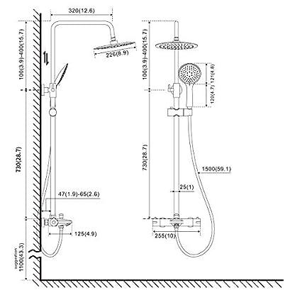 417O%2BdpbuZL. SS416  - BONADE Columna de Duchas Conjunto de Ducha sin Grifo