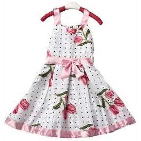 Ragazze Kid Tutu principessa Abito senza maniche Ribbon Bow Floral Outfit