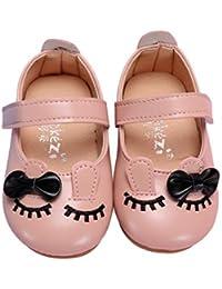 1f3eb321 Miyanuby Zapatos para Bebe Niña | Patrón de Gato Lindo Suela de Goma  Antideslizante Mocasines Niña
