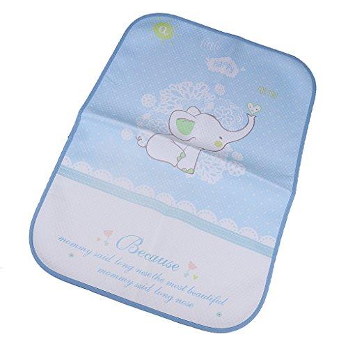 MagiDeal Baby tragbare wasserdichte Wickeltischauflage Wickelunterlage Wickelauflage Babybett Matte - Elefant, 50x70cm