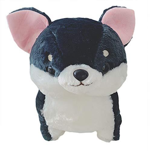 Kuizhiren1 Plüschtier, 30 x 50 cm, Chihuahua-Hund, Plüsch-Spielzeug, weich gefüllt, Kissen - Marineblau 50 cm
