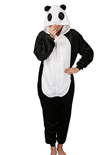 Pyjamas Schlafanzug Plüschtier Kostüm Jumpsuit Tier Flanell Cosplay Karneval Fasching (Kostüme Pyjama Panda)