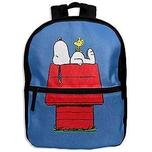 Snoopy mochila para niños para dormir por encima de la casa roja, para la escuela, senderismo, viajes, bolso de hombro para niños y niñas