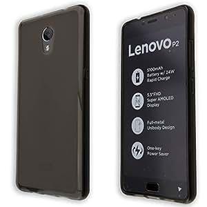 custodia Lenovo P2 TPU-Custodia cover, copertura in colore nero-transparente