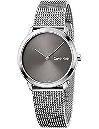 9db319415fccff Calvin Klein Damen Analog Quarz Uhr mit Edelstahl Armband K3M221Y3