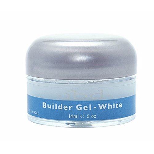 IBD Nail Treatments - white Builder Gel, 1er Pack (1 x 15 ml) -