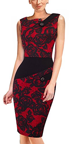 HOMEYEE Damenkleid Business Kleid Partykleid Pencil Etuikleider B231, B63 (EU 44 (Herstellergroesse:...