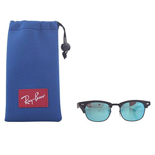 Ray-Ban Sunglasses Clubmaster Junior Black (Frame: Black, Lens: Red Mirrored 100S6Q), 45