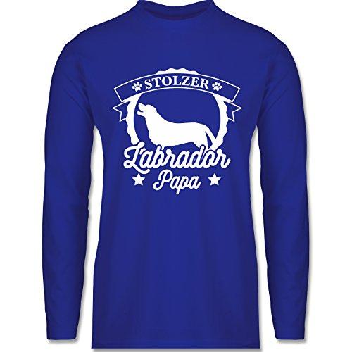 Shirtracer Hunde - Stolzer Labrador Papa - Herren Langarmshirt Royalblau