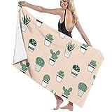 Soft, Quick Dry, Beach Towels Decor Potted Succulents Serviette de bain,s for Bathroom Hotel Spa Kitchen Soft, High Absorbent, Eco-Friendly Printed Serviette de bain,,Quick Dry 31.5'x51.2'in