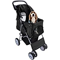display4top Pet Travel Kinderwagen Hund Katze Kinderwagen Kinderwagen Jogger Buggy mit 4 Rollen