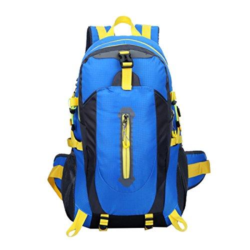 Xin.S40L Outdoor Bergsteigen Tasche Wasserdichte Nylon Reisetasche Schulter Freizeit Rucksack Tag Rucksack Markise Bergsteigen Angeln Reisen Fahrrad. 3 Farben,Blue-30*20*52cm (Blaue Markise Tag)