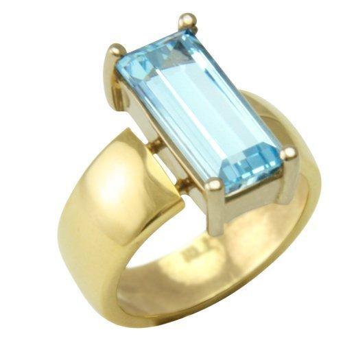 Aquamarin Ring 4,30 ct. (Gelbgold 750) Aquamarinring