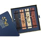Faite à La Main En Bois Signets Avec Ensemble De Tassel Traditionnel Chinois Marque-Page Cadeaux Uniques Pour Enfants Et Friend-Gift BoîTe D'Emballage (1 Lot De 4 Pcs)
