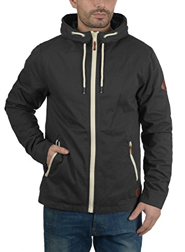 Blend Bobby Herren Übergangsjacke Herrenjacke Jacke gefüttert mit Kapuze, Größe:S, Farbe:Phantom Grey (70010) - 2