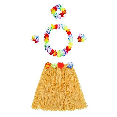 7d94d2b18 Juego de faldas de Hula con guirnalda hawaiana para disfraz de Hula Dance  Party.