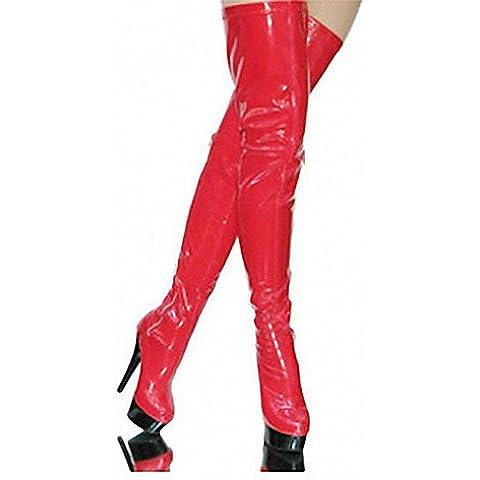 15CM zapatos de mujer Tacones de charol / Plataforma / moda botas tacones / botas parte & Noche Stiletto talón,Negro,US9 / UE40 / UK7 / CN41