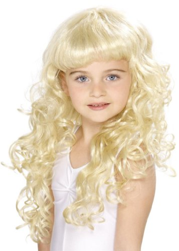 Perücke Blond Locken blonde Kinder ()