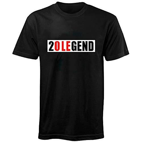 T-Shirt Fußball-Legende Ole Gunnar Solskjaer bei Manchester United 1999 - Retro-Design - Schwarz Legend - L -