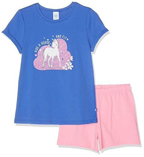 Sanetta Mädchen Pyjama Short Zweiteiliger Schlafanzug, Blau (Cornflower Blue 5357), 104 - Mädchen Lacrosse Shorts