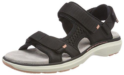 Clarks Damen Un Roam Step Slingback Sandalen, Schwarz (Black Leather), 36 EU (Kunststoff-trichter Schwarzes)