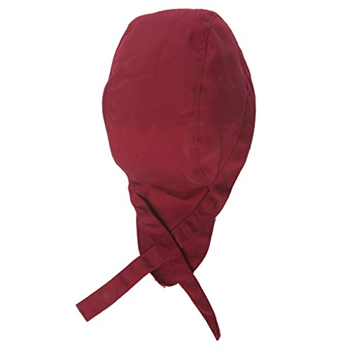 Preisvergleich Produktbild Fenteer Kochen Sports Bandana Cap Herrem Damen Biker Bandanas Kopftuch Hat für Hotels,  Cafes,  Restaurants Kellner - Weinrot