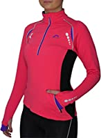 More Mile Vancouver Plus Womens Pink Thermal Running Top MM1782