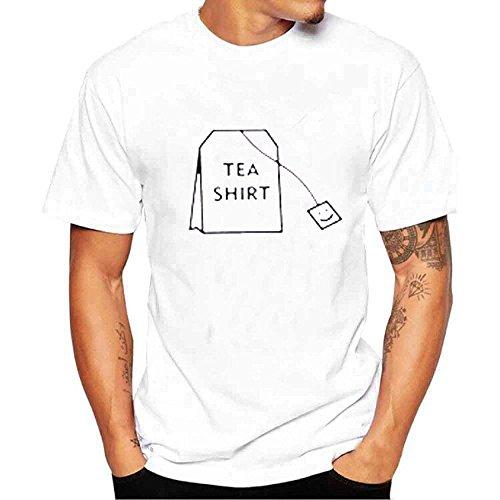 Celucke T-Shirt Herren Rundhals Tee Regular Fit aus Bio-Baumwolle mit Coole Print, Männer Kurzarmshirt Basic Stretch Kurzarm Tops Short Sleeve Moderne Casual O-Neck -