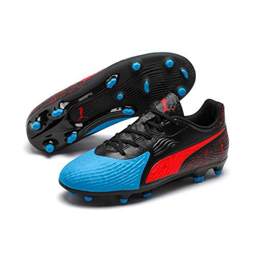 Puma Unisex-Kinder ONE 19.4 FG/AG Jr Fußballschuhe, Blau (Bleu Azur-Red Blast Black), 38 EU