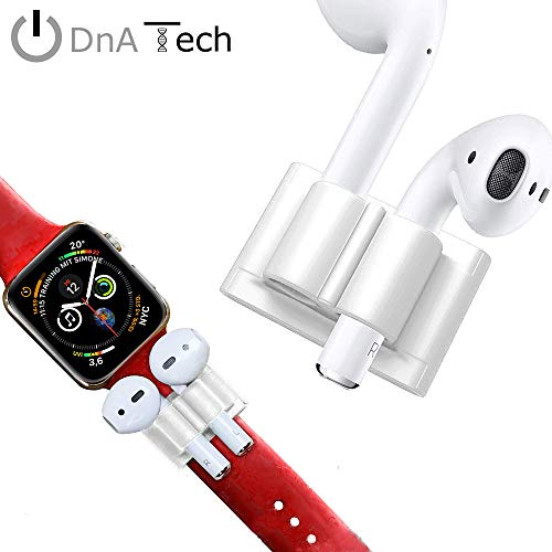 Halterung für AirPods & Apple Watch Armband by DnA Tech® | Geschmeidiges Silikon - Anti-Lost-Holder | Ideal beim Sport oder in der Freizeit