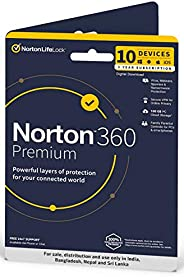 Norton 360 Premium | 10 Users 3 Years | Total Security for PC, Mac, Android or iOS | Physical Delivery| No CD