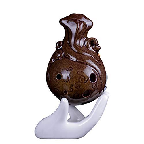ZQWJ Ocarina, 6-Loch Mid-Ton C, Farbe Glasierte Keramik AC Ocarina Musikinstrument