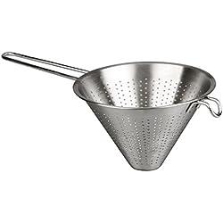 MGE - Colador Chino de Cocina - Diámetro 16 cm - Acero Inoxidable - Plata