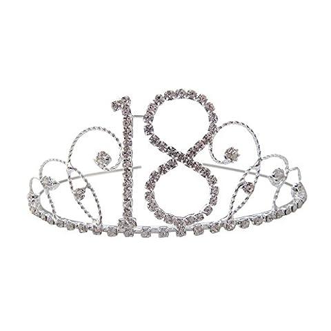18e anniversaire Tiara couronne 1818cadeau d'anniversaire 18ème cadeau cristal Diamante 18Tiara