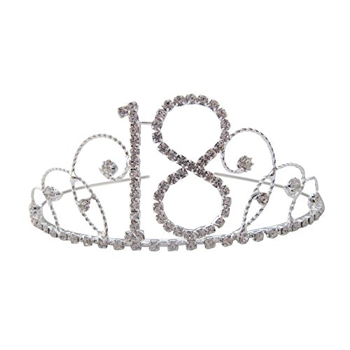 18th Birthday Tiara 18th Crown 18th Birthday Gift 18th Present Crystal Diamante 18th Tiara Test