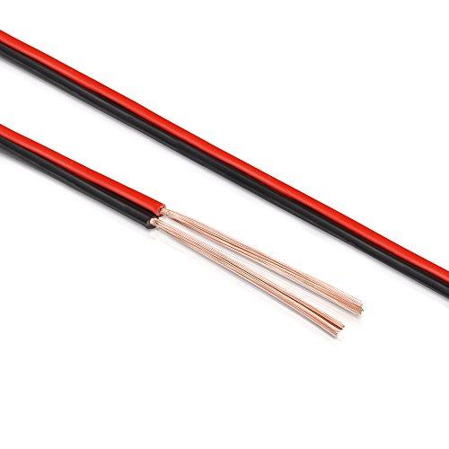 Manax SC2150RB-100 Lautpsrecherkabel 2x1,50 mm² CCA (Boxenkabel/Audiokabel), Spule 100 m, rot/schwarz