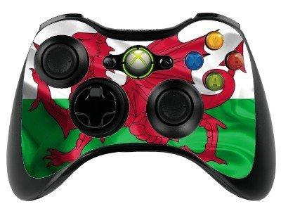 Wales Flagge Xbox 360Fernbedienung Controller/Gamepad Skin/Vinyl Cover/Vinyl xbr35