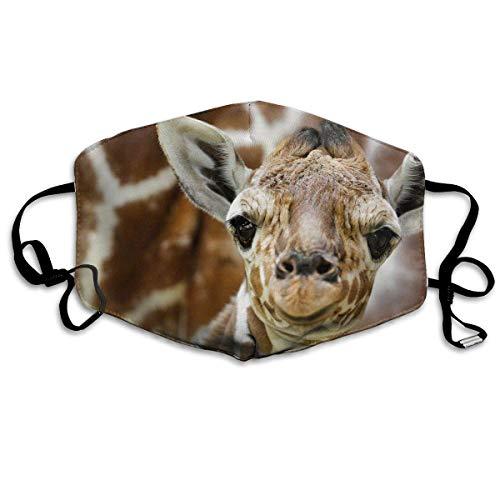 Vbnbvn Unisex Mundmaske,Wiederverwendbar Anti Staub Schutzhülle,Giraffe Sanitary Masks Anti Dust Earloop Face Flu Maske für Mann Frau