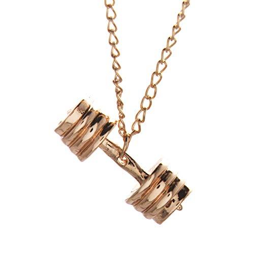 nhänger-Halskette Zwei Universal-Titan Stahlketten hypoallergen Geschenk für Ihre geliebten-1Cp Gold- ()