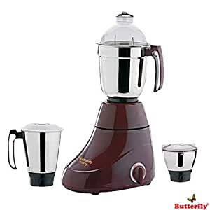 Butterfly Ivory 600-Watt Mixer Grinder with 3 Jars (Cherry Red)