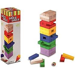 Juego de Habilidad Block & Block Torre Barritas de Madera de Colores 859