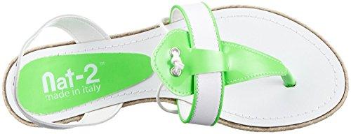 Nat-2 - Infradito Donna Bianco (White Green)
