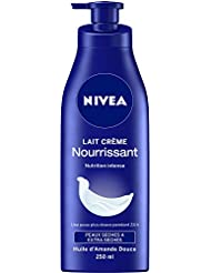 Nivea Lait Crème Nourrissant Peaux Sèches à Extra Sèches 250 ml - Lot de 2