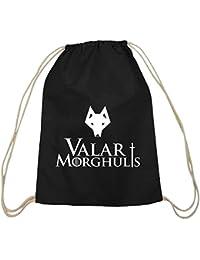 Shirtstreet24, Valar Moghulis Wolf, Baumwoll natur Turnbeutel Rucksack Sport Beutel