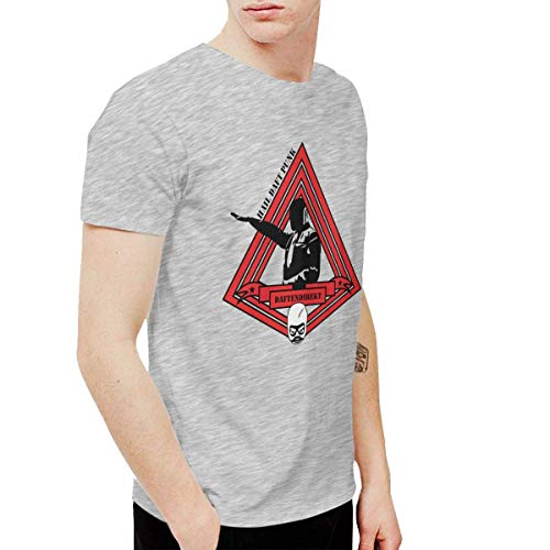 Ghsywgy Mens Fashion Daft Punk Tees and Washed Denim Hat Casquette Gray,Gray,Small